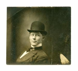 [Portrait of a Man in a Derby Hat]