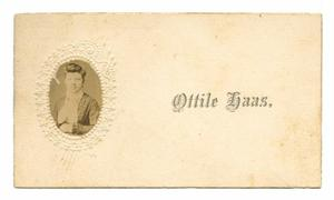 Primary view of object titled '[Calling Card with Portrait of Ottile Haas]'.