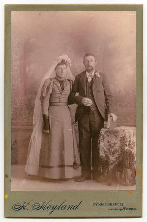 Primary view of object titled '[Wedding Portrait of Gustav and Verena Jentsch]'.