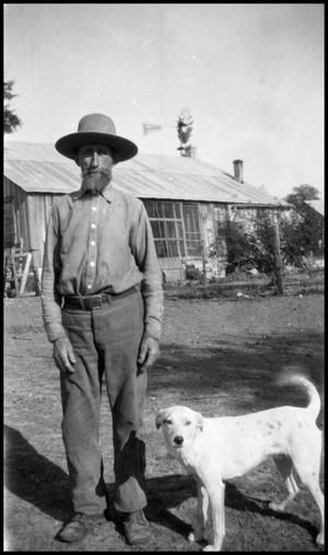 [Photograph of Gus Jentsch and Dog]