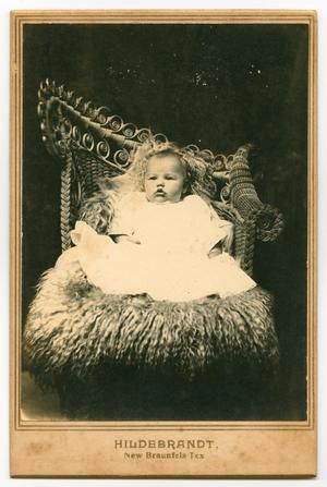 Primary view of object titled '[Portrait of a Baby in a Wicker Chair]'.
