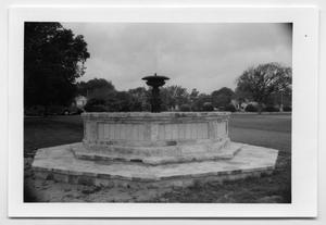 Primary view of object titled '[Photograph of a Fountain]'.