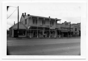 Primary view of object titled '[Photograph of Businesses in Fredericksburg, TX]'.