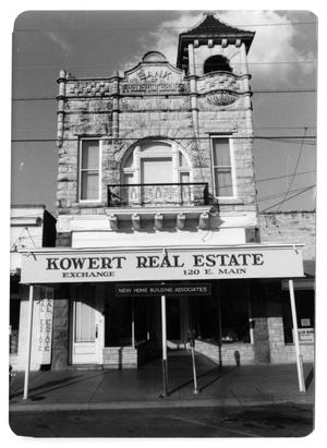 Primary view of object titled '[Photograph of Kowert Real Estate]'.