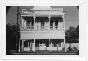 Primary view of object titled '[Photograph of the August Itz Building]'.