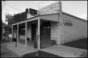 Primary view of object titled '[Photograph of Businesses in Fredericksburg]'.