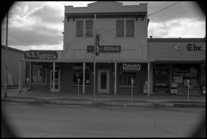 Primary view of object titled '[Photograph of Stores in Fredericksburg]'.