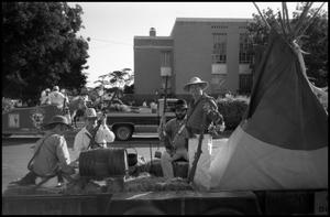 Primary view of object titled '[Photograph of a Float in a Parade in Fredericksburg]'.