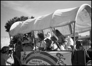 Primary view of object titled '[Photograph of the Children's Discovery Center Float in Fredericksburg]'.