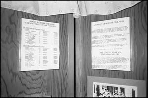 Primary view of object titled '[Photograph of an Exhibit in Gillespie County Historical Society]'.