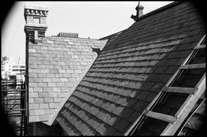 Primary view of object titled '[Photograph of a Roof in Fredericksburg]'.