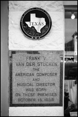 Primary view of object titled '[Photograph of a State Historical Marker]'.
