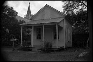 Primary view of object titled '[Photograph of a Fredericksburg Building]'.