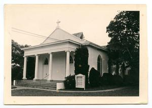 Primary view of object titled '[Methodist Church at Gillespie County's Pioneer Museum]'.