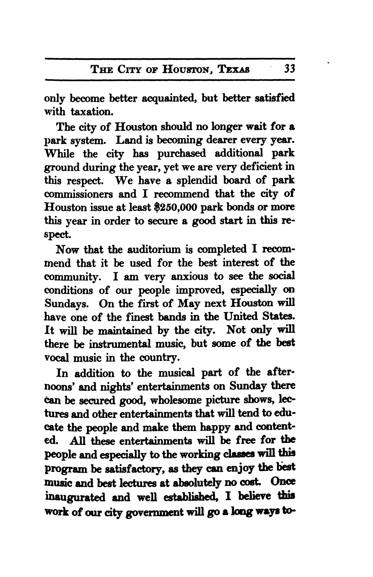 A thumb-nail history of the city of Houston, Texas, from its founding in 1836 to the year 1912                                                                                                      33