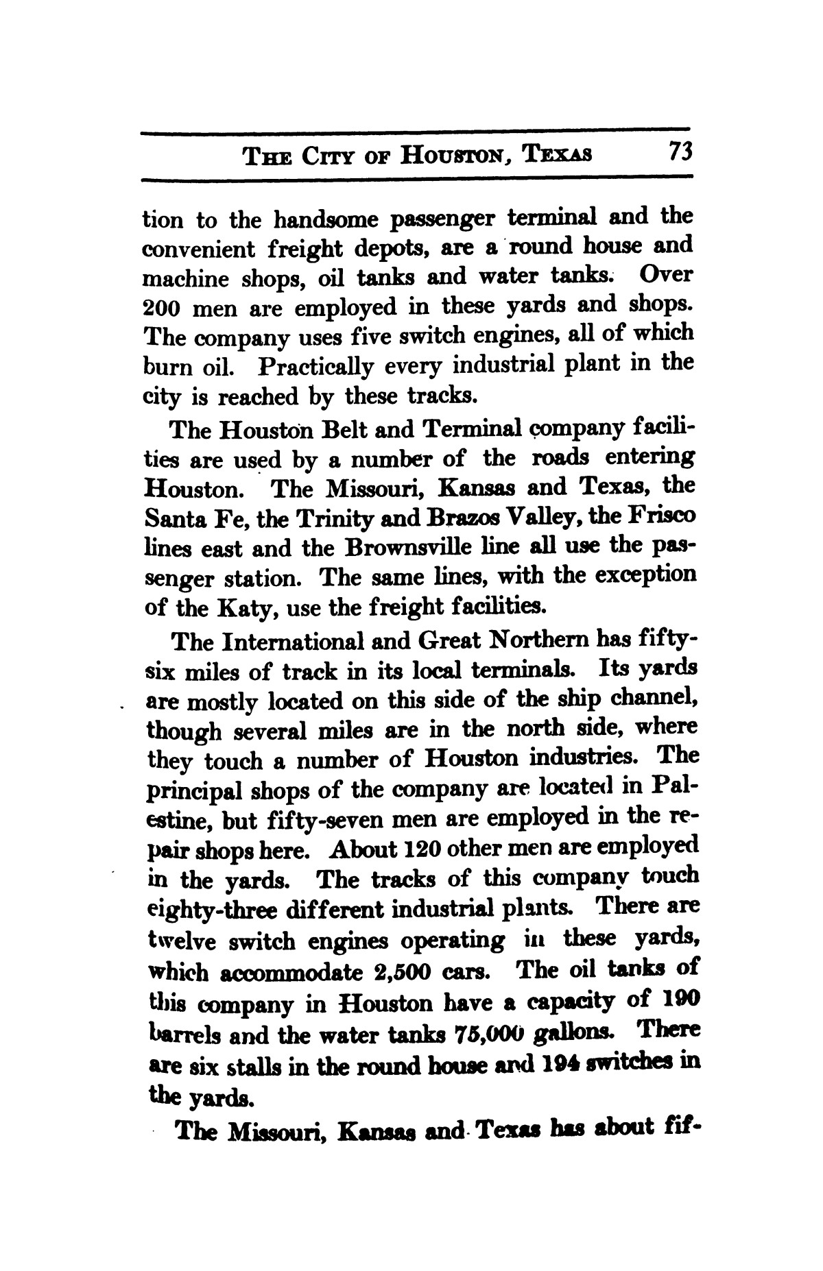 A thumb-nail history of the city of Houston, Texas, from its founding in 1836 to the year 1912                                                                                                      73