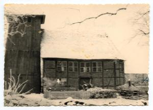 Primary view of object titled '[Part of a Church Building in Snow]'.