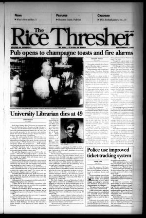 Primary view of object titled 'The Rice Thresher (Houston, Tex.), Vol. 83, No. 2, Ed. 1 Friday, September 1, 1995'.