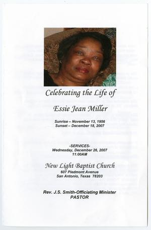 Primary view of object titled '[Funeral Program for Essie Jean Miller, December 26, 2007]'.