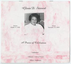 Primary view of object titled '[Funeral Program for Gloria D. Steward, September 27, 2003]'.