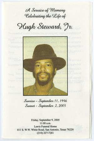 Primary view of object titled '[Funeral Program for Hugh Steward, Jr., September 9, 2005]'.