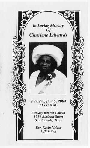 [Funeral Program for Charlene Edwards, June 5, 2004]