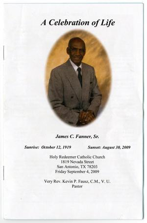 Primary view of object titled '[Funeral Program for James C. Fanner, Sr., September 4, 2009]'.