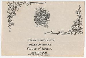 Primary view of object titled '[Funeral Program for Eddie Flint, May 24, 1990]'.