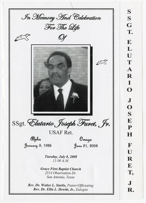 Primary view of [Funeral Program for Elutario Joseph Furet, Jr., July 8, 2008]