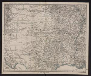 Primary view of object titled '[Map of Texas, Indian Territory, Louisiana, Arkansas, Missouri, Kansas] / bearbeitet v. H. Habenicht.'.