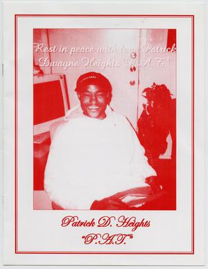Primary view of object titled '[Funeral Program for Patrick D. Heights, February 14, 2007]'.