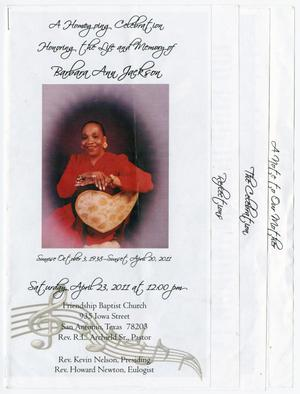 Primary view of object titled '[Funeral Program for Barbara Ann Jackson, April 23, 2011]'.