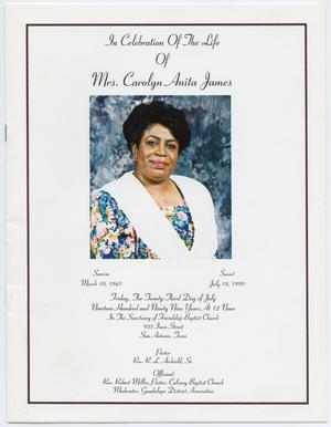 Primary view of object titled '[Funeral Program for Carolyn Anita James, July 23, 1999]'.