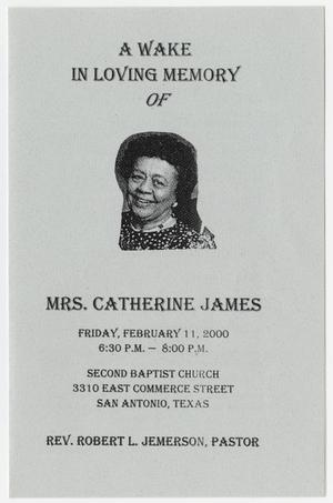 Primary view of object titled '[Wake Program for Catherine James, February 11, 2000]'.