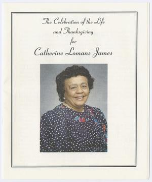 Primary view of object titled '[Funeral Program for Catherine Lomans James, February 12, 2000]'.