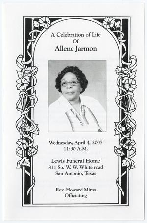 [Funeral Program for Allene Jarmon, April 4, 2007]