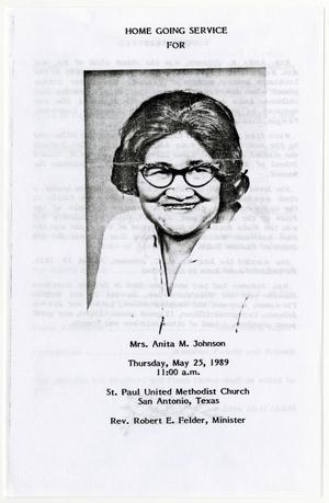 Primary view of object titled '[Funeral Program for Anita M. Johnson, May 25, 1989]'.