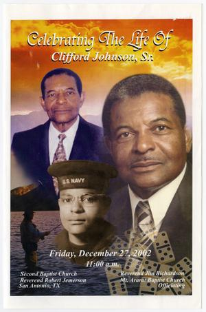 Primary view of object titled '[Funeral Program for Clifford Johnson, Sr., December 27, 2002]'.