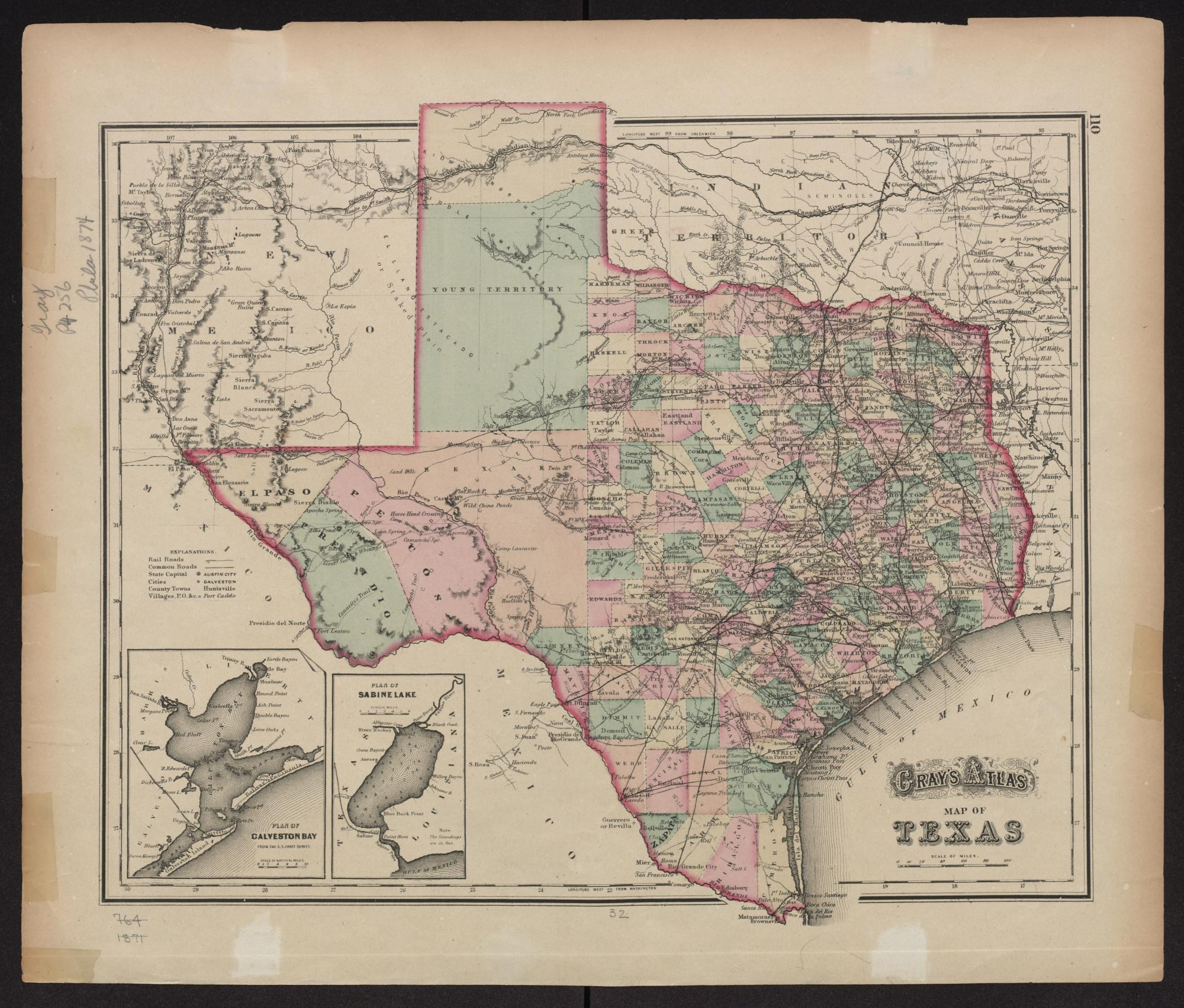 Gray's atlas map of Texas. - Side 1 of 1 - The Portal to ...