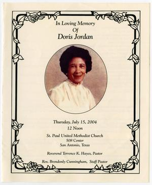 Primary view of object titled '[Funeral Program for Doris Jordan, July 15, 2004]'.