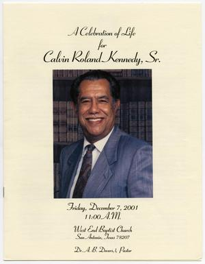 Primary view of object titled '[Funeral Program for Calvin Roland Kennedy, Sr., December 7, 2001]'.