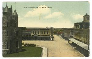 [Postcard of Street Scene in Decatur, Texas]