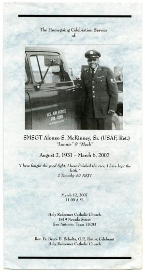 Primary view of object titled '[Funeral Program for Alonzo S. McKinney, Sr., March 12, 2007]'.