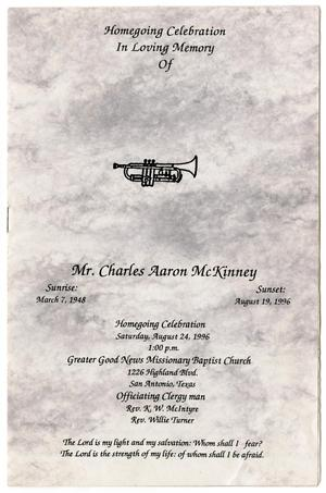 [Funeral Program for Charles Aaron McKinney, August 24, 1996]