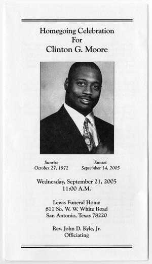 [Funeral Program for Clinton G. Moore, September 21, 2005]