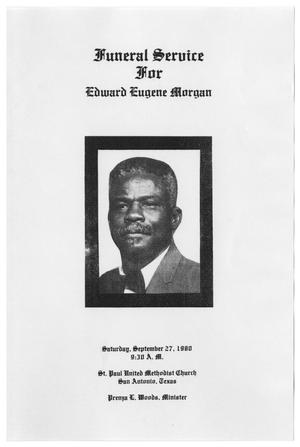 Primary view of object titled '[Funeral Program for Edward Eugene Morgan, September 27, 1980]'.