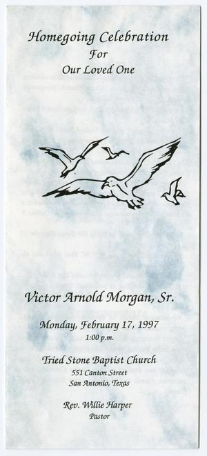 Primary view of object titled '[Funeral Program for Victor Arnold Morgan, Sr., February 17, 1997]'.