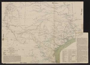 Primary view of object titled 'Map of Texas and part of New Mexico'.