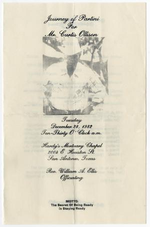 Primary view of object titled '[Funeral Program for Curtis Ollison, December 28, 1982]'.