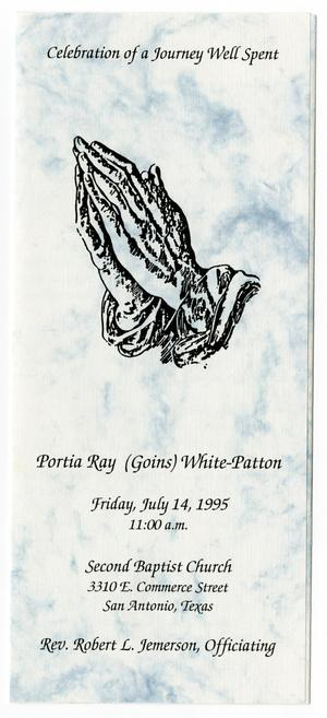 [Funeral Program for Portia Ray White-Patton, July 14, 1995]